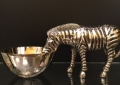 Metal Zebra Bowl