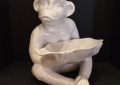 "Ceramic 17"" Monkey with Tray"