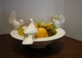 White Ceramic Bird Bowl