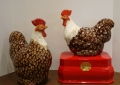Ceramic Rooster Pair