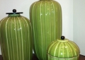 Green Ceramic Ginger Jars