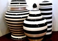 Assorted Stripe Ceramic Lidded Jars