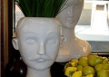 White Ceramic Head Vases